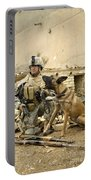 A Dog Handler And His Military Working Portable Battery Charger