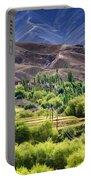 aerial view of Leh ladakh landscape Jammu and Kashmir India Portable Battery Charger