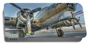 B17 Flying Fortress On The Ramp At Livermore Portable Battery Charger