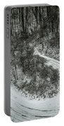 Bad Road Conditions While Driving In Winter Portable Battery Charger