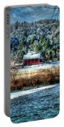 Vermont Farm By The River Portable Battery Charger