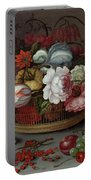 Basket Of Flowers Portable Battery Charger