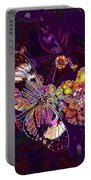 Butterfly Macro Pose Plant Green  Portable Battery Charger
