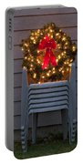 Christmas Wreath On Lawn Chairs Portable Battery Charger