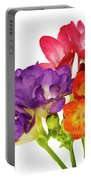 Colorful Freesias Portable Battery Charger