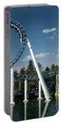 Cork-screw Rollercoaster And Ferris-wheel Portable Battery Charger