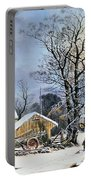 Currier & Ives Winter Scene Portable Battery Charger