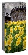 Daffodils And Bar Walls, York, Uk. Portable Battery Charger