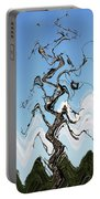 Dead Pine Tree Abstract Portable Battery Charger