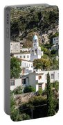 Dhermi Traditional Village View In Southern Albania Portable Battery Charger