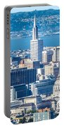 Downtown San Francisco City Street Scenes And Surroundings Portable Battery Charger