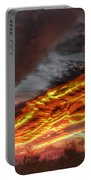 Dramatic Skies Great Smoky Mountains Nc At Sunset In Winter Portable Battery Charger