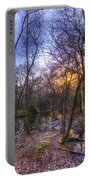 Early Morning Forest Pond Portable Battery Charger
