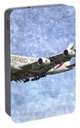 Emirates A380 Airbus Watercolour Portable Battery Charger