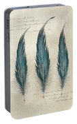 3 Feathers And Quote Portable Battery Charger