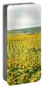 Field With Sunflowers Portable Battery Charger
