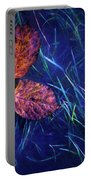 Floral Art Portable Battery Charger