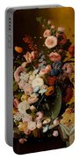 Flowers In A Glass Pitcher Portable Battery Charger