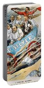 Free Silver Cartoon, 1896 Portable Battery Charger
