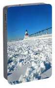 Frozen Lighthouse Portable Battery Charger
