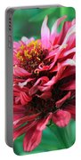 Fuchsia Pink Zinnia From The Whirlygig Mix Portable Battery Charger