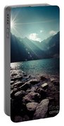 Green Water Mountain Lake Morskie Oko, Tatra Mountains, Poland Portable Battery Charger