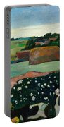 Haystacks In Brittany Portable Battery Charger