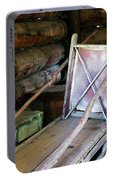 Historic Log Trappers Cabin Portable Battery Charger