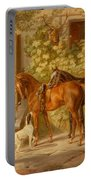 Horses At The Porch Portable Battery Charger