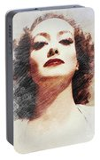 Joan Crawford, Vintage Actress Portable Battery Charger