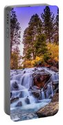 Lee Vining Creek Waterfall Portable Battery Charger