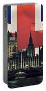 London Cityscape With Big Ben Portable Battery Charger