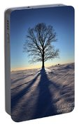 Lone Tree In Snow Portable Battery Charger
