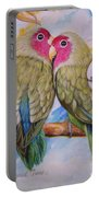 Flygende Lammet   Productions             3 Love Birds Perched Portable Battery Charger