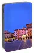 Mantova City Piazza Delle Erbe Evening View Panorama Portable Battery Charger