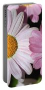 Marguerite Daisy Named Petite Pink Portable Battery Charger