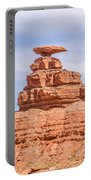 Mexican Hat Rock Monument Landscape On Sunny Day Portable Battery Charger