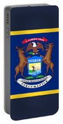 Michigan Flag Portable Battery Charger