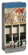 National Historical Museum Landmark And Mosaic Mural In Tirana A Portable Battery Charger