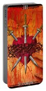 3 Of Swords Portable Battery Charger