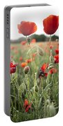Papaver Rhoeas Portable Battery Charger
