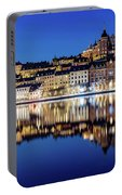 Perfect Sodermalm And Mariaberget Blue Hour Reflection Portable Battery Charger
