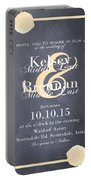 Personalized Wedding Invitation Portable Battery Charger