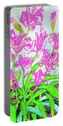Pink Daily Lilies Portable Battery Charger