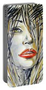 Red Lipstick 081208 Portable Battery Charger