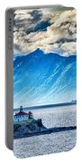 Remote Lighthouse Island Standing In The Middle Of Mud Bay Alask Portable Battery Charger