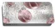 Rose Gold Christmas Baubels Portable Battery Charger