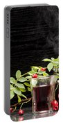 Rosehip Tea With Lemon In Glass Portable Battery Charger