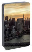 San Francisco City Skyline At Sunset Aerial Portable Battery Charger