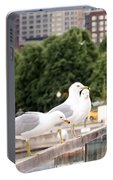 3 Seagulls In A Row Portable Battery Charger